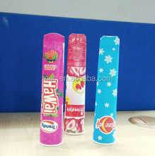 Colorful tall calippo ice cream paper cardboard tube packaging