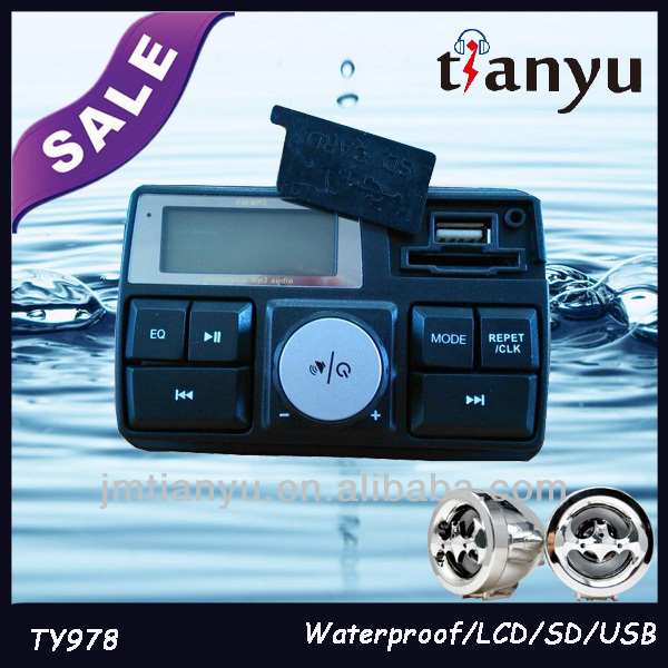 TY978 Tianyu waterproof full function LCD china professional quad atv parts with USB/SD/FM/radio