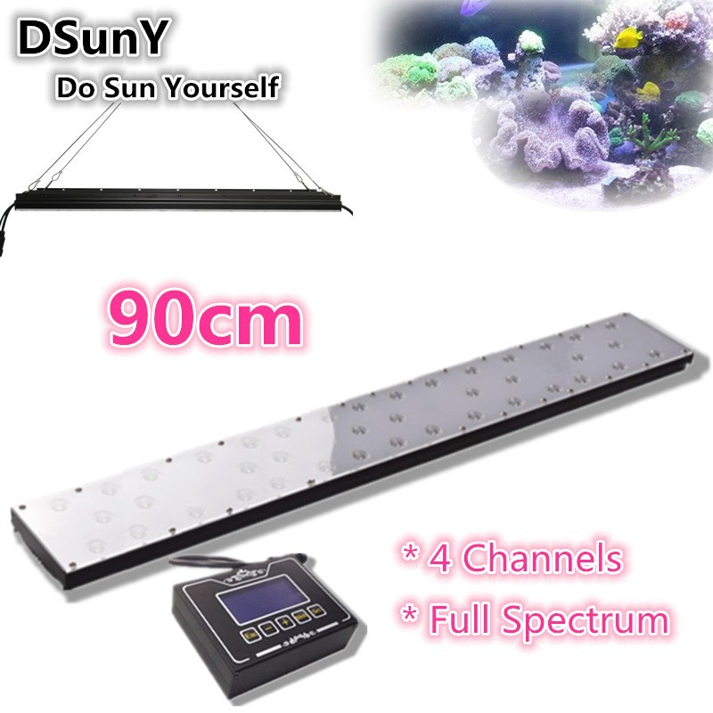 "90w 36""best Aquarium led Lights for coral reef led thunder storm aquarium light simulator full spectrum led light"