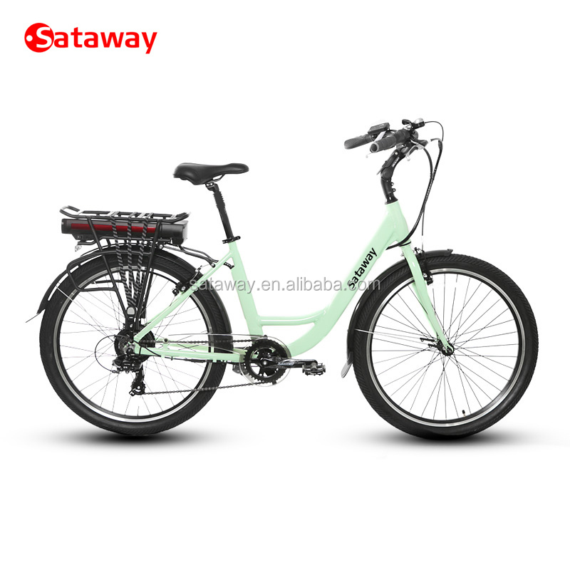 Sataway high quality city lady electric bike e bicycle ebike tour