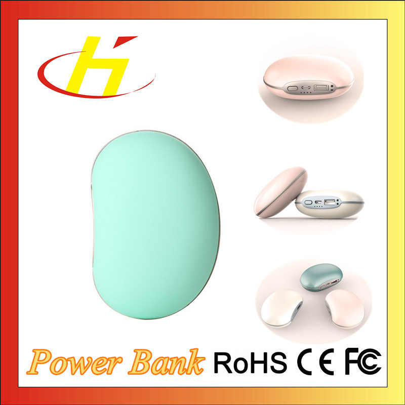 Power bank supplier little stone battery charger 4000mAh hand warmer portable hot power bank