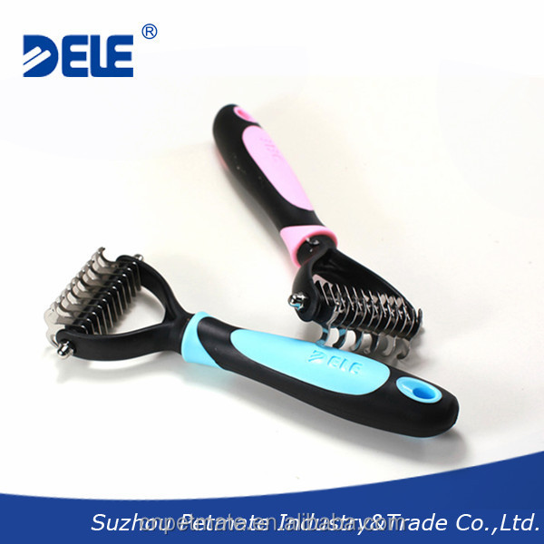 Professional factory direct supply pet grooming supplies comb deshedding dog brush