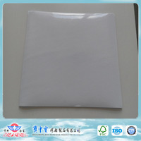 80micron transparent PVC waterbased self-adhesive sticker