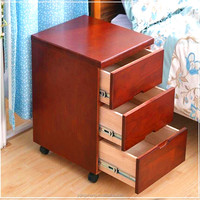 home furniture walnut color American style three storage drawer unit 3 drawer cabinet chest