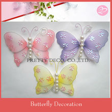 Hand made bead butterfly decoration pieces