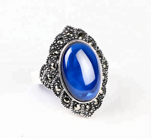 Fashion 925 Sterling Silver Ring gemstone jewelry manufacturer china