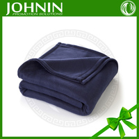 Promotional Cheap Solid Dyed Portable Airplane Throw Blanket