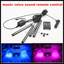DC12V led lamp 1/3M 5050 Waterproof RGB LED Strip Light RGB 3M diode Tape light+ IR Music Remote Controller car decorative strip