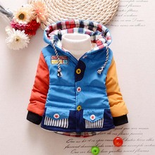 TC11017 New style thick winter hooded baby coat high quality baby boys padded coat