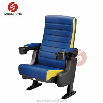PU leather theater chair 3D 4D 5D cinema chair with cupholder