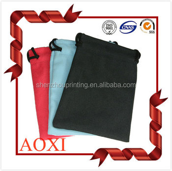 popular salable custom drawstring velvet camera bag