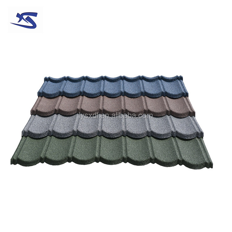 Building materials 50 years guarantee steel purple metal roof tile