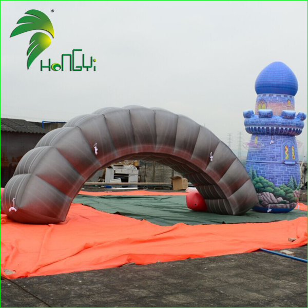 Outdoor Event Inflatable Lighted Tire Entrance Arches For Advertisement / Promotion Sealed Tubular Arch Gate Design
