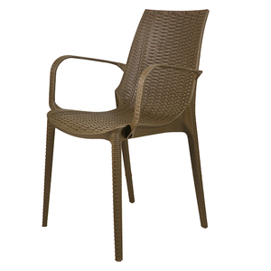 Stackable Rattan Furniture  Non Folding outdoor Wicker Chair / Rattan Chair