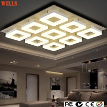 Luxury modern square acrylic led ceiling lights
