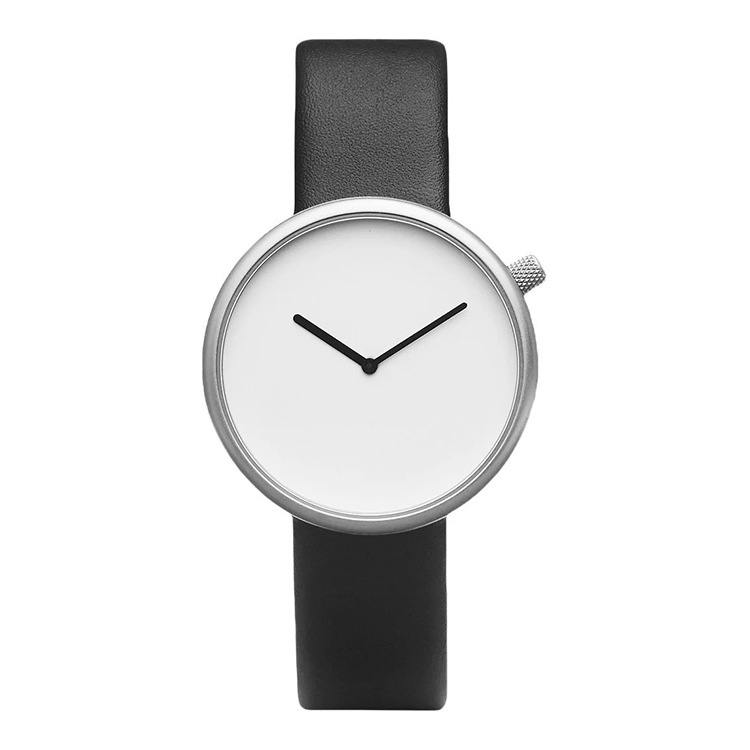 OEM Custom Logo Simple Design Watch Unisex Men Woman Ultra- thin Leather Wrist Watch Minimalist Watch