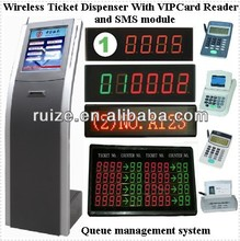 wireless queue system/queue management ticket dispenser LED queue system/wireless queue management system