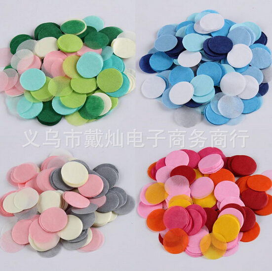 colourful 10g/bag 2.5cm/1inch Gold Circle Shape Tissue Paper Confetti Wedding Party Table Decorations