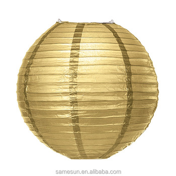 New Product Round Gold Paper Lantern