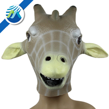 Wholesale Halloween Party Animal Shows Giraffe Head Latex Mask