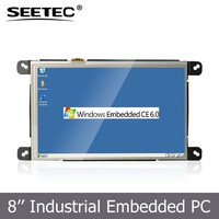 SEETEC high contrast 8 inch tft lcd monitor resistive touchscreen open frame all in one embedded pc