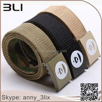 Hot Sale Mens Cotton Web Slider Buckle Fabric Military Canvas Belt