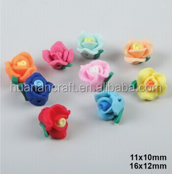 China bead manufacturers,polymer clay flower ceramic beads,multi colour rosary bead