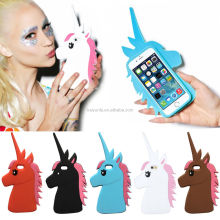 3D unicorn phone cover animal silicone phone case for Iphone 6 and 6 plus