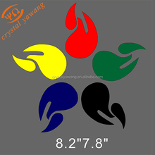 New trend decorative vinyl transfer The Olympic flame iron on pattern for garment accessories