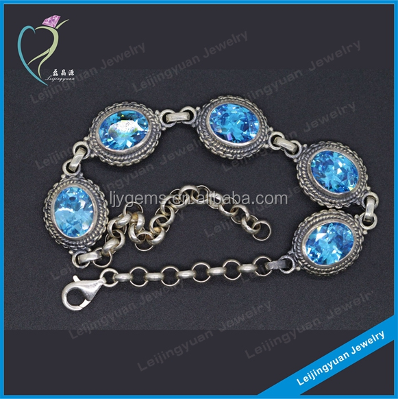 2016 Cheap Artificial Leather Silver Magnetic Bracelet
