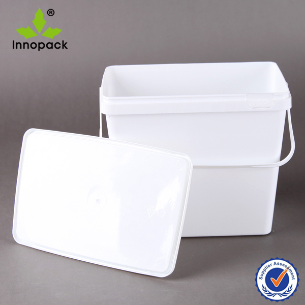 4L square plastic bucket and pail