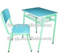 active desk and chair/green desk and chair/good school furniture