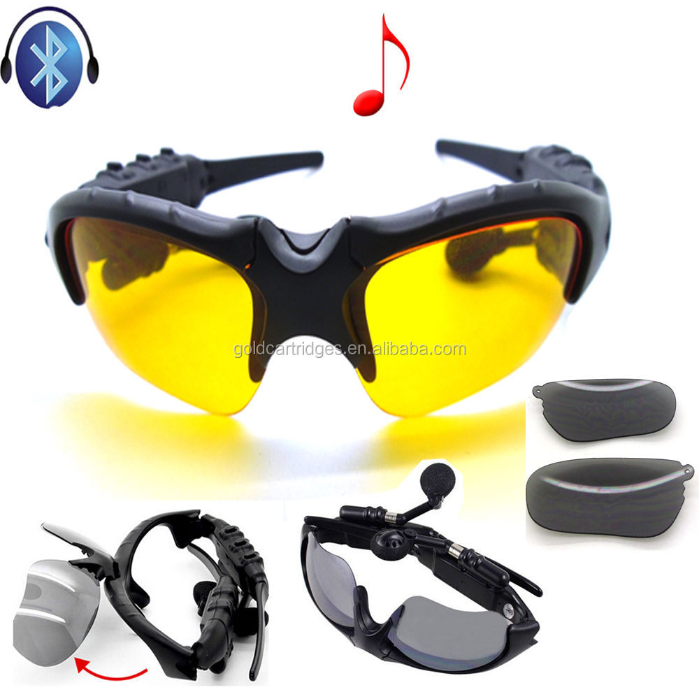 Wireless Autobike Glasses Bluetooth MP3 Sun Glasses Headset For Cellular Phone