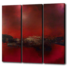 Triptych oil painting