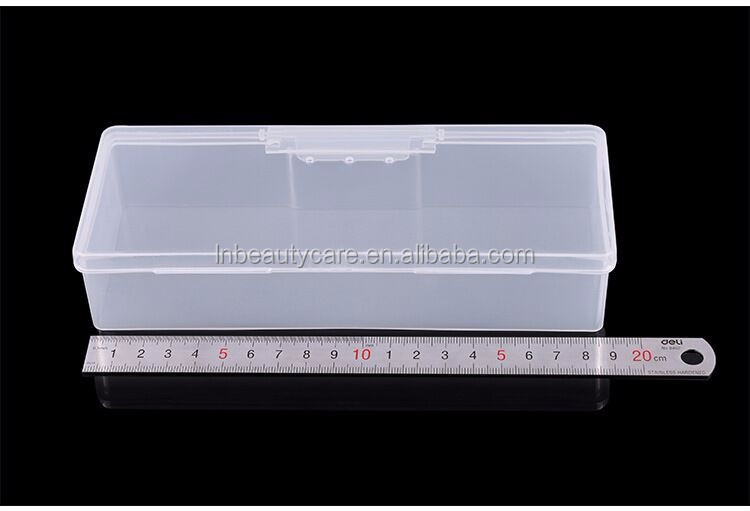 Plastic Empty Nail File box & nail buffer container&diamond box