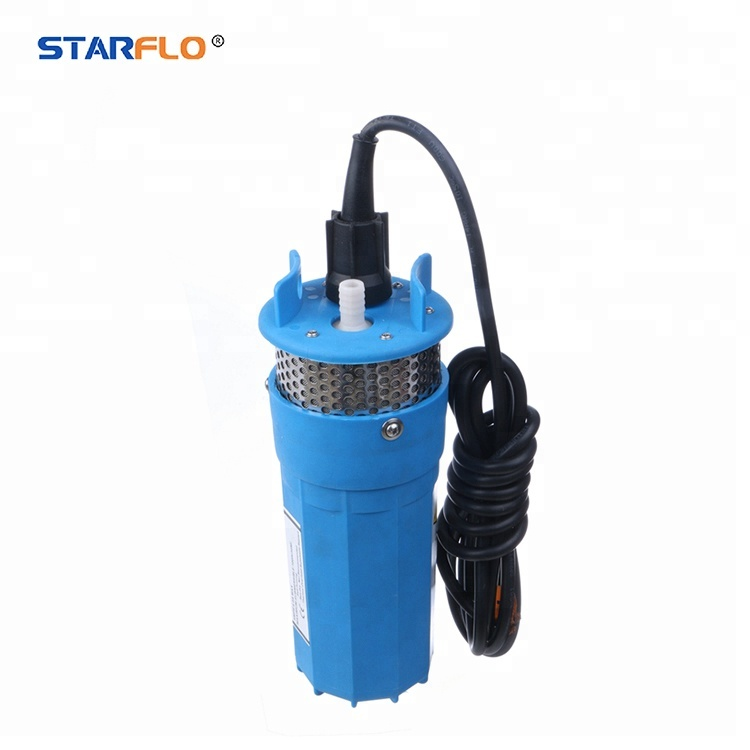 STARFLO 12V DC 70m high lift solar powered electric submersible solar water pump for agriculture