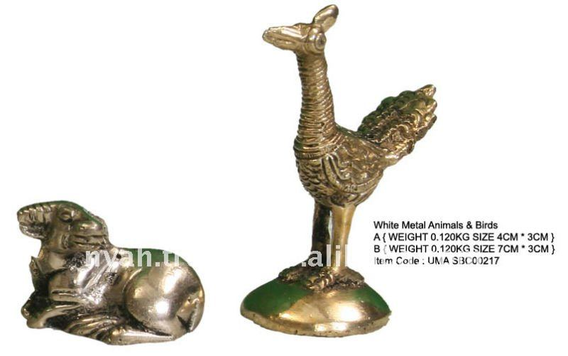 BRASS ANIMALS & BIRDS STATUES