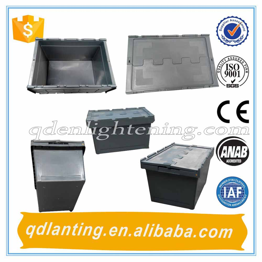 high quality 100%PP plastic logistic tote box with lids