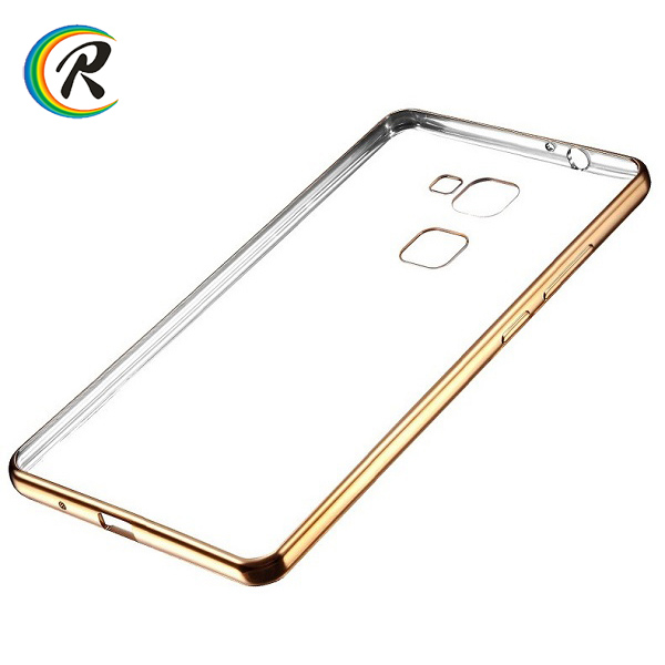 2017 hot new products plating soft TPU case silicon cover for huawei mate s mobile case