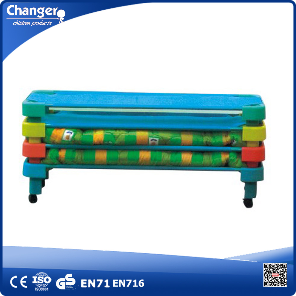Kids Bed Sale Easy Move Strong Fireproof Mesh Fabric Kids Stackable Plastic Beds