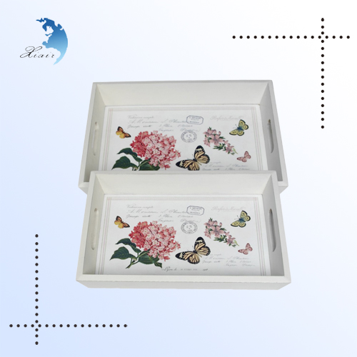 In China high end multifunctional natural wood serving tray