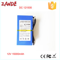 Shenzhen Zande DC-121500 15000mAh Rechargeable lithium ion 12v Battery pack