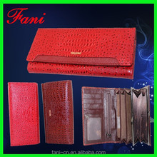 Wholesale cheap female fashion trends PU leather wallet and purses for human