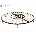 new arrival space saving folding mattress foundation metal slatted round bed frame DJ-PQ06