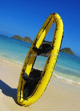 PVC inflatable boat with transparent battom inflatable banana boat