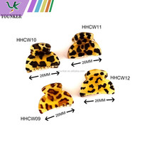Classic animal print plastic small jaw hair claw clip
