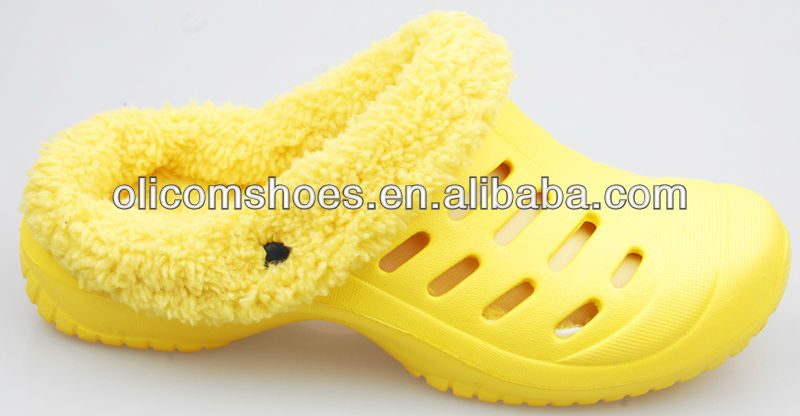 Winter style with best quality fur insole female lady eva garden clogs