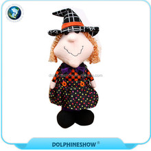 2017 Halloween Decoration Stuffed Animals Plush Toy Scary Halloween Witch Doll For Kids