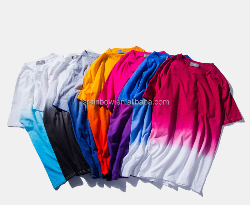 2017 Wholesale Summer Men Dip Dye Short Sleeve T shirts