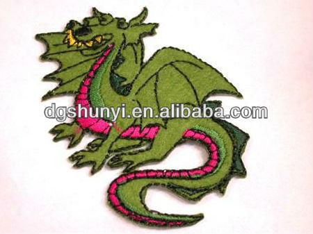 chenille embroidered felt dragon patches